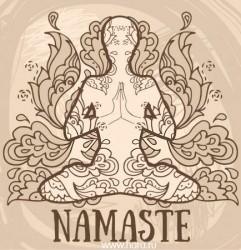 Намастэ, мудра уважения и молитвы